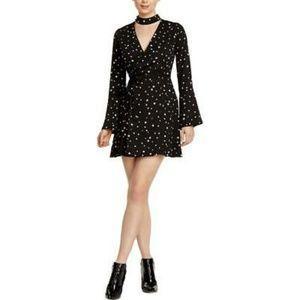 J.O.A Blazer Bell Sleeve Choker Star Wrap Dress XS